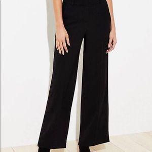 LOFT Women's NWT Petite Wide Leg Tuxedo Pants